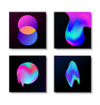 modern abstract liquid gradient effect card set vector image vector image