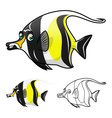 Moorish Idol Fish vector image vector image