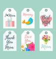 mother day tags vector image vector image