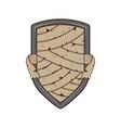 mummy bandage metal shield badge logo template