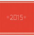 New year greeting card with knitted texture vector image vector image