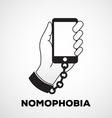 nomophobia vector image vector image
