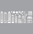 paper cut city buildings origami skyscrapers vector image vector image