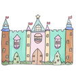 Pastel cartoon castle vector image vector image