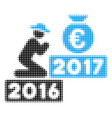 pray for euro 2017 halftone icon vector image
