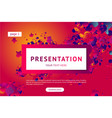 presentation and landing page poster vector image vector image