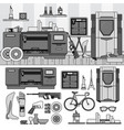 professional 3d printing line monochrome vector image vector image