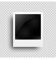 Realistic photo frame on transparent grid vector image vector image