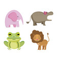 set of wild animals vector image