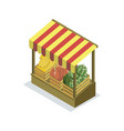 shopping zone isometric 3d icon vector image vector image