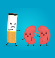 smoke kill kidneys stop smoke concept vector image