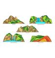 south korea landmark icons korean landscapes set vector image