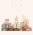 springfield state ilinois skyline detailed vector image vector image