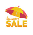 summer sale background season discount vector image vector image