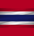 thailand flag flag of thailand blowig in the vector image vector image