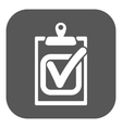 The checklist icon Clipboard and executed task vector image vector image
