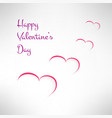 Valentines card background with red and white vector image vector image
