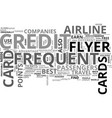 what you need to know about frequent flyer credit vector image vector image