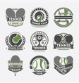 tennis club vintage isolated label set vector image