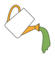 color sections silhouette of watering can with vector image