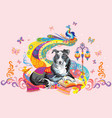 dog the symbol of new year 2018 vector image