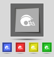 football helmet icon sign on original five colored vector image