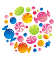 allsorts from colorful sweets vector image