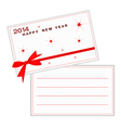 2014 happy new year cards with red ribbon vector image vector image