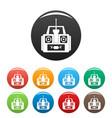 aerial drone remote control icons set color vector image vector image