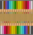 background with color pencils vector image vector image