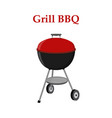 barbecue set - grill station closed cap vector image vector image
