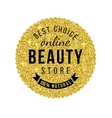 beauty store emblem with type design vector image vector image