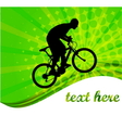 bicyclist -abstract background vector image vector image