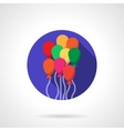 Bright colorful balloons round flat icon vector image vector image