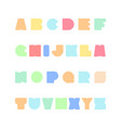 bright colorful font funny english alphabet vector image
