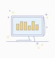 business data analytics bright modern vector image