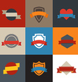 Collection of color flat labels Template for a vector image vector image