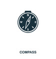 compass icon mobile app printing web site icon vector image