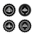 crowns on royal seals monochrome set vector image