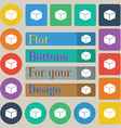 cube icon sign Set of twenty colored flat round vector image