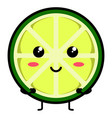 cute lemon emoticon vector image