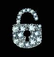 Diamond Lock Icon vector image vector image