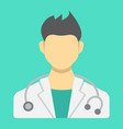 doctor flat icon medicine and healthcare vector image