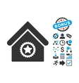 Excellent Building Flat Icon with Bonus vector image vector image