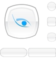 Eye white button vector | Price: 1 Credit (USD $1)