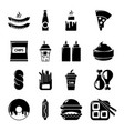 fast food icons set simple style vector image vector image
