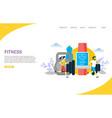 fitness website landing page design vector image