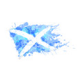 flag of scotland made of colorful splashes vector image vector image