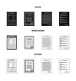 form and document logo set vector image vector image