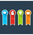 Four colored icons depicting items for education vector image